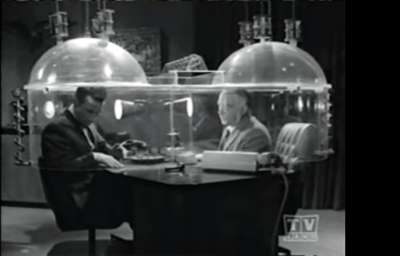 """""""Cone of silence"""" from TV show Get Smart"""
