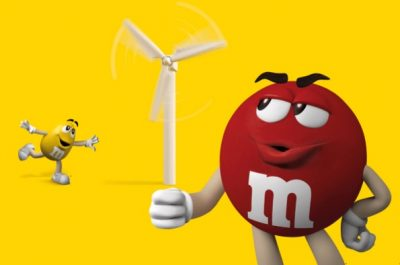 m&ms love wind energy on the road to 100% renewable energy