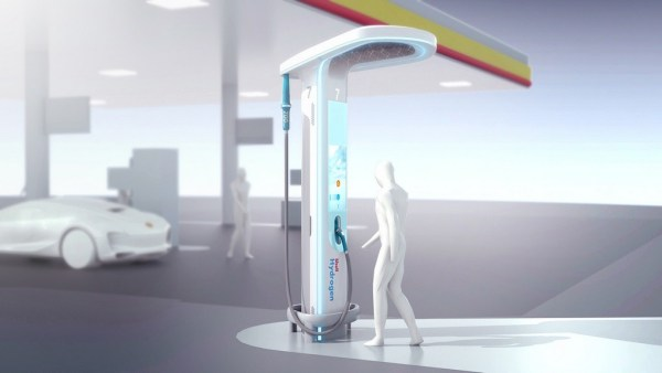 shell oil's hydrogen fuel cell filling station vision