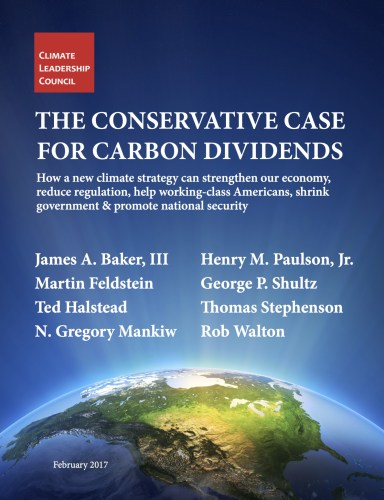 Conservative case for climate dividends climate change carbon dividend