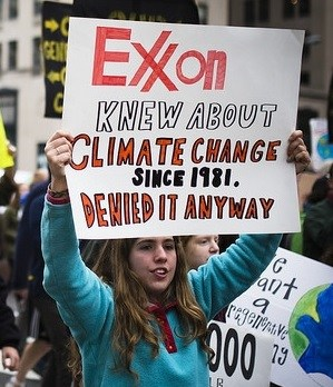 Exxon knew about climate change and the deaths caused by their products.