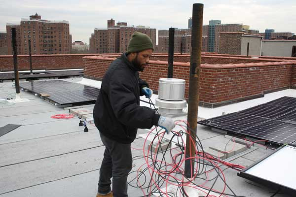 A Green New Deal that's already happening - nonprofits Solar One & WE ACT For Environmental Justice create jobs with solar