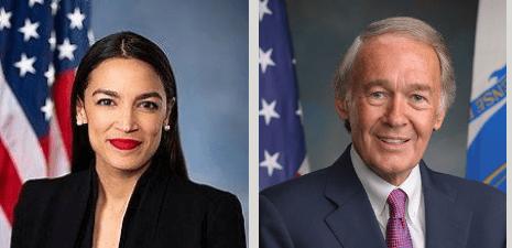 Rep. Alexandria Ocasio-Cortez and Sen. Ed Markey