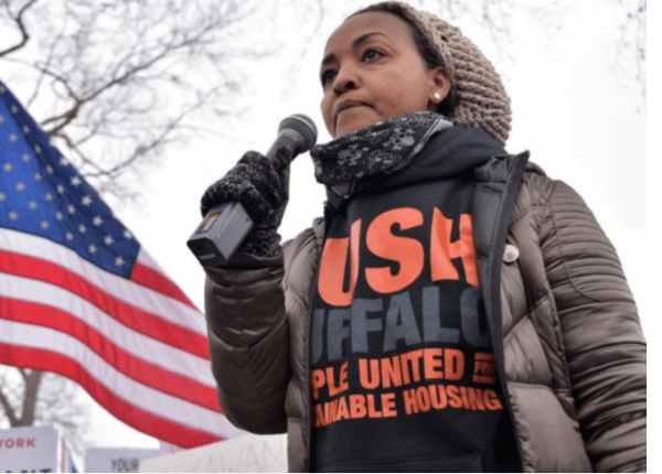 Rahwa Ghirmatzion, PUSH Buffalo's executive director, working for environmental justice and clean energy