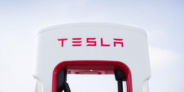EV supercharger by Tesla