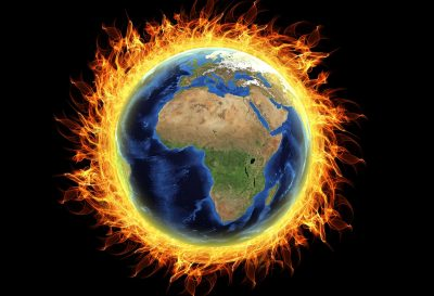 climate change global warming earth on fire