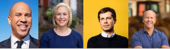 Which 2020 candidates support carbon pricing