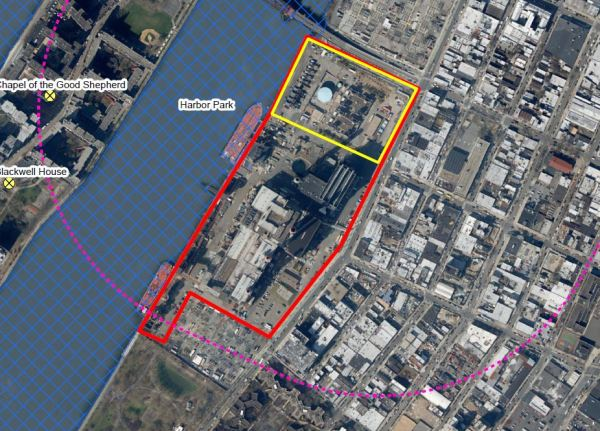 Site of proposed 2.5 GWh battery in Queens, NY.
