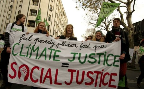 Climate activists around the world are calling for fair climate policies that address social justice and inequality. Photo by Andreas Link/Young FoEE