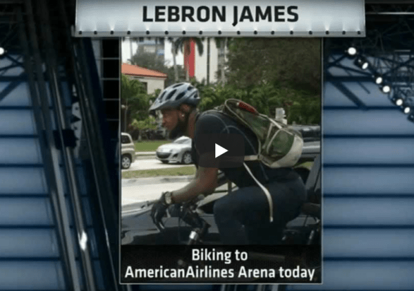 LeBron James promotes biking as well as EVs