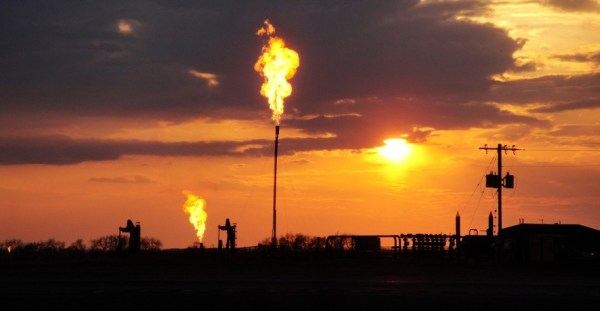 methane gas flares in north dakota