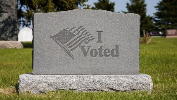 Election 2020 wisconsin primary tombstone