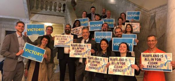 Maryland state CCL group climate change victory!