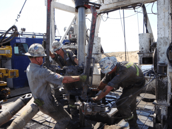 Workers on an oil rig in Colorado. Photo by NIOSH