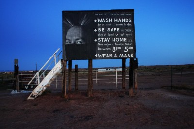 Sign outside Tuba City on the Navajo Nation was photographed in May 2020. Image by Jetsonorama