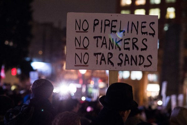 January 14th, 2013 - Hundreds of demonstrators gather in downtown Vancouver protesting the Enbridge Northern Gateway pipeline.