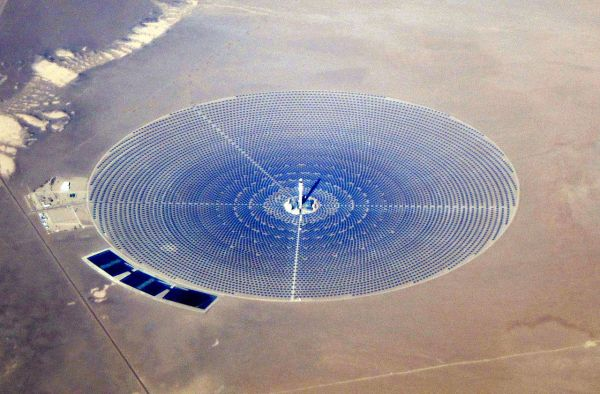 Crescent Dune solar thermal power plant