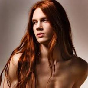 long red straight hair