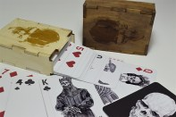 Tattoo wood boxw cards