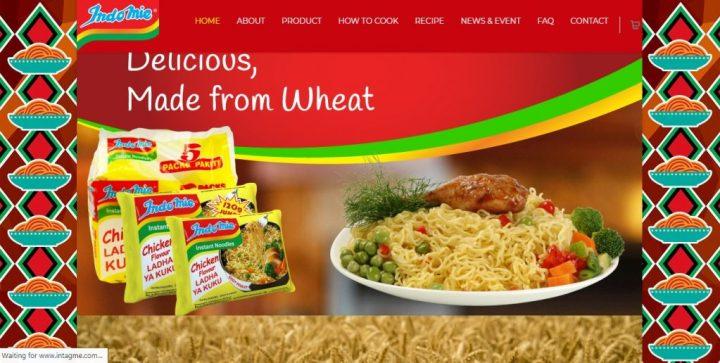 Website of Indomie Kenya