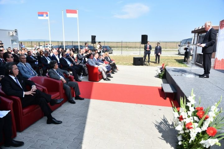 Grand opening of factory Indomie Serbia