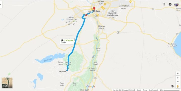 traveling from cairo to fayoum
