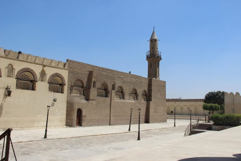 view of masjid amr ibn al-as from outside of masjid