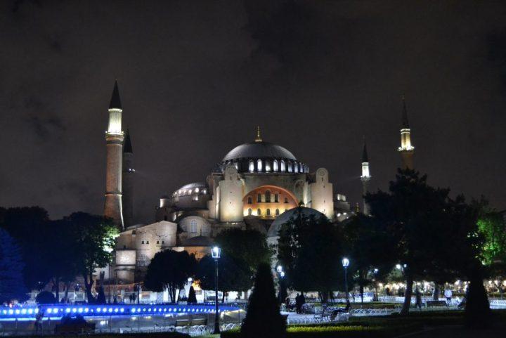Hagia Sophia in the night