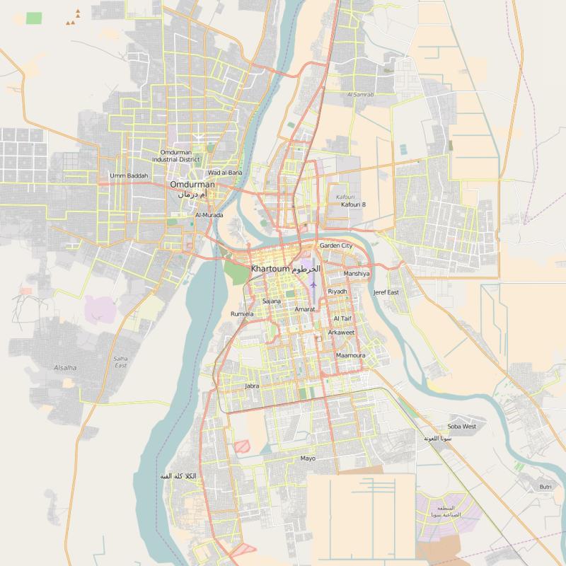 map of khartoum
