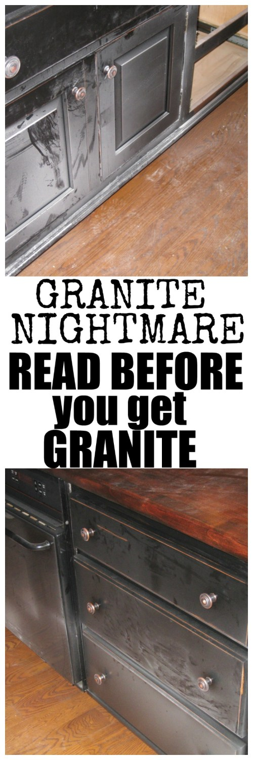 If you plan on getting granite in your home you need to read what this family went through first!  This was written by a mom who went through hell when her granite was installed.  In addition there are many that have come forth in the comments saying they had the same happen to them.
