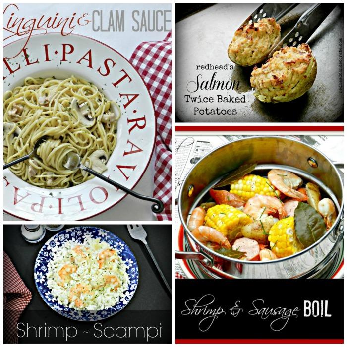 Shrimp, Clams, & Salmon Recipes