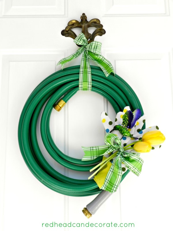 Cutest garden hose wreath ever!