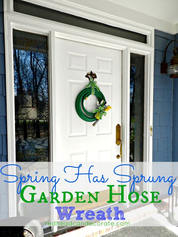Cutest garden hose wreath ever!