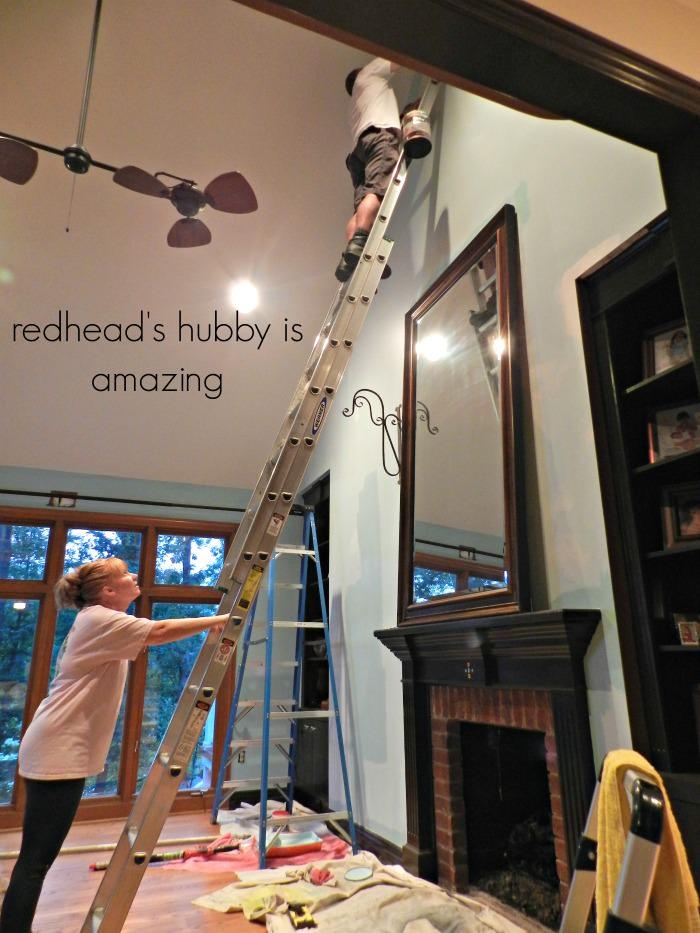 Rick on ladder