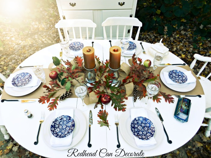 Thanksgiving Table by Redheadcandecorate.com