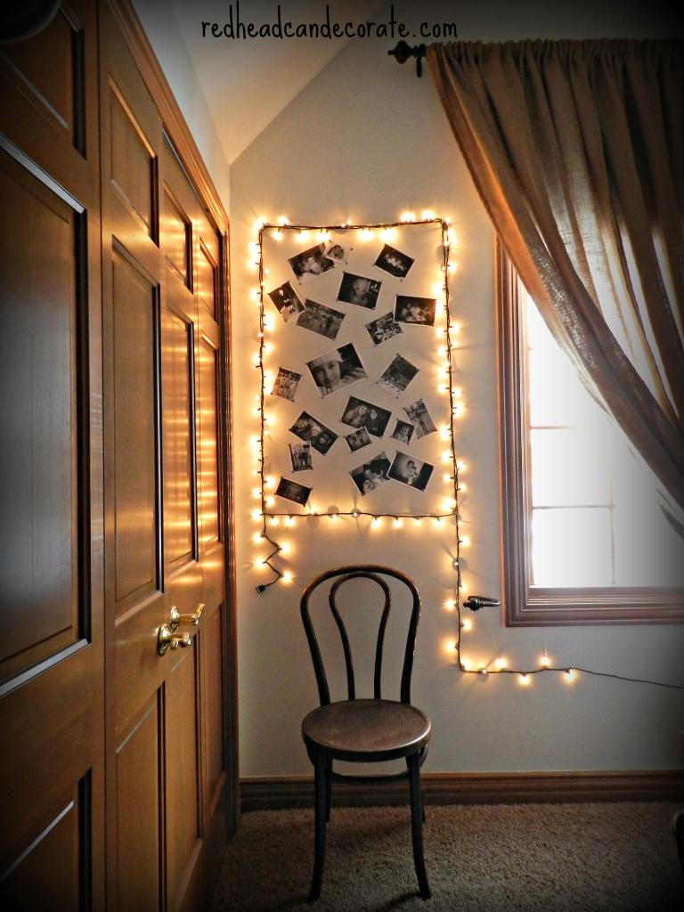 DIY Christmas Light Frame by Redhead Can Decorate