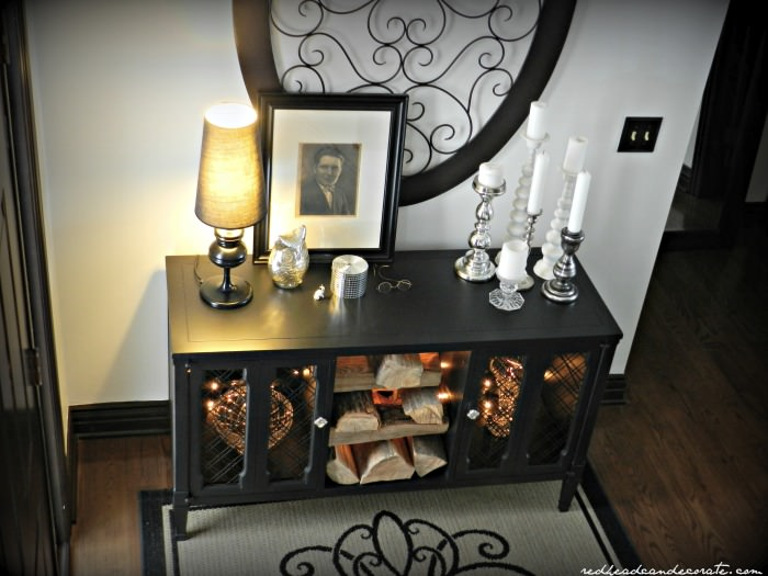 Stereo Console w: black paint makeover