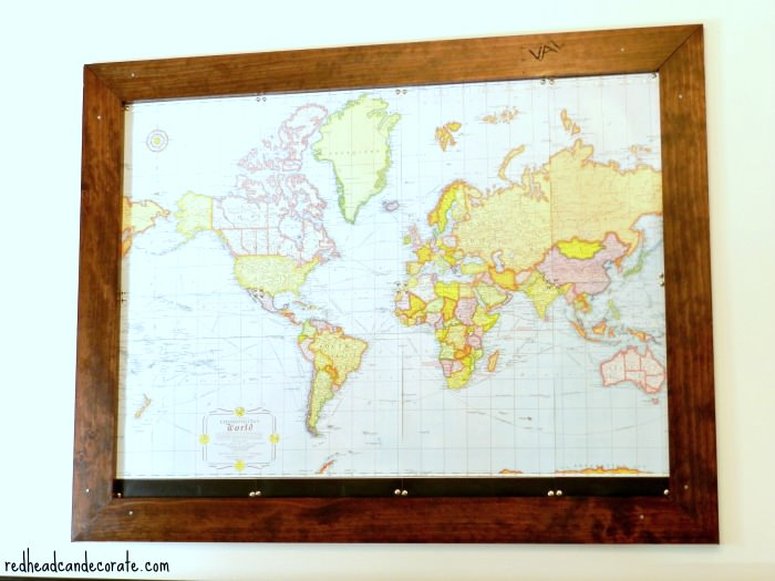 Custom Framed World Map