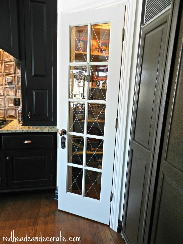 Pantry Door with Antique Hardware - Antique Hardware For Doors, Kitchen Cabinets, & Drawers - Redhead