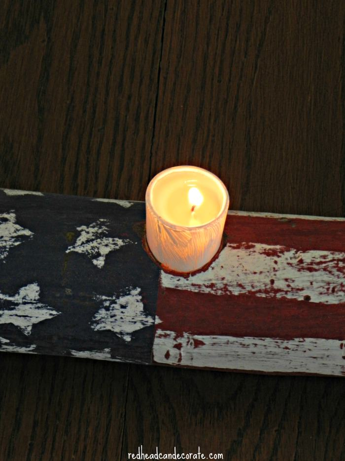 American Flag Candle