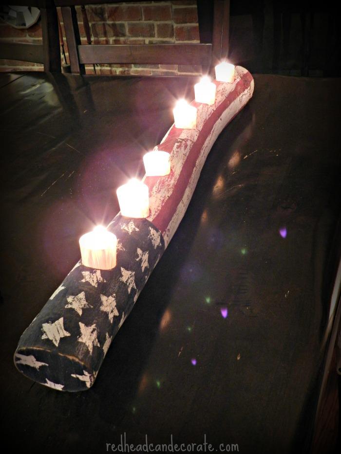 Beautiful Rustic American Candle