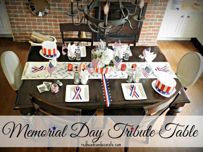 Memorial Day Tribute Table