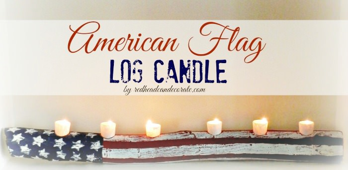 Rustic American Log Candle
