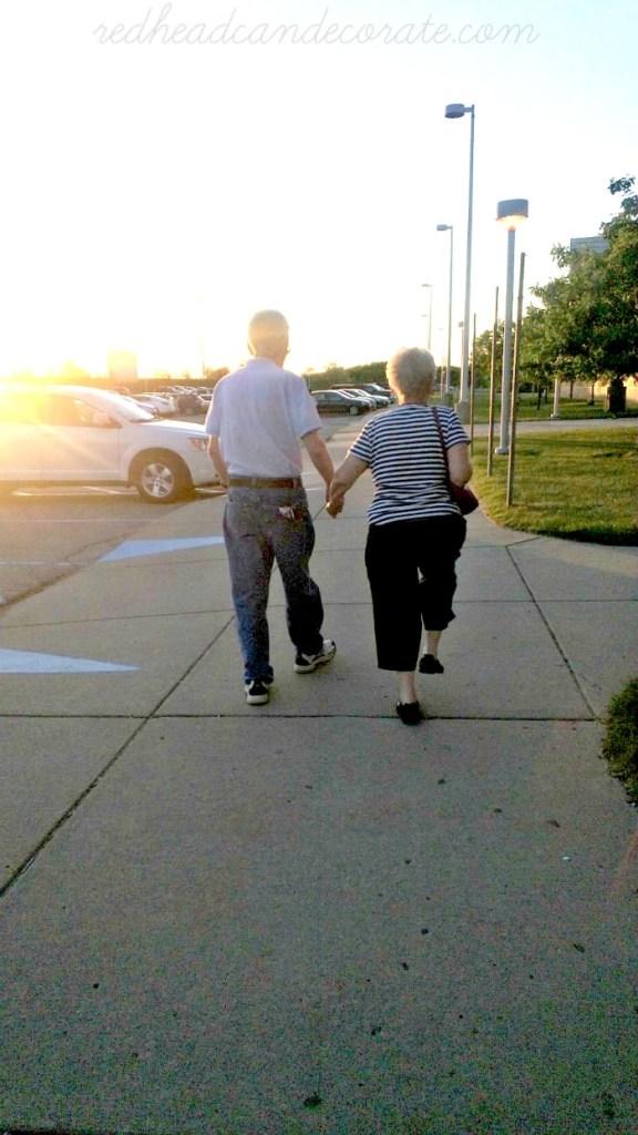 Mom & Dad Walking