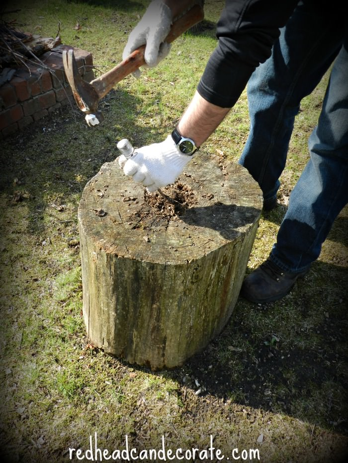 Stump Planter Tutorial