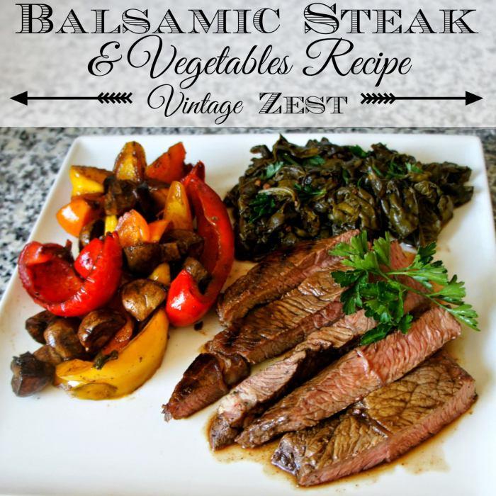 Balsamic Steak & Vegetables Recipe #ChooseSmart #CollectiveBias 1