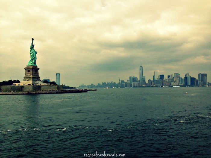 Statue of Liberty Cloudy Day