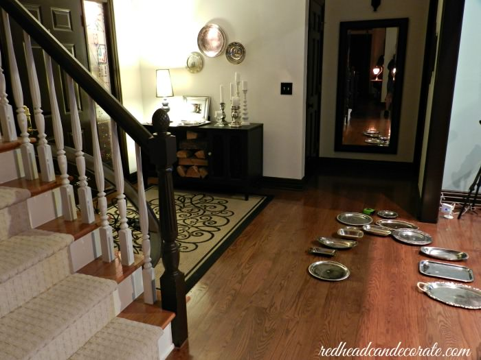 How I made my silver platter wall...