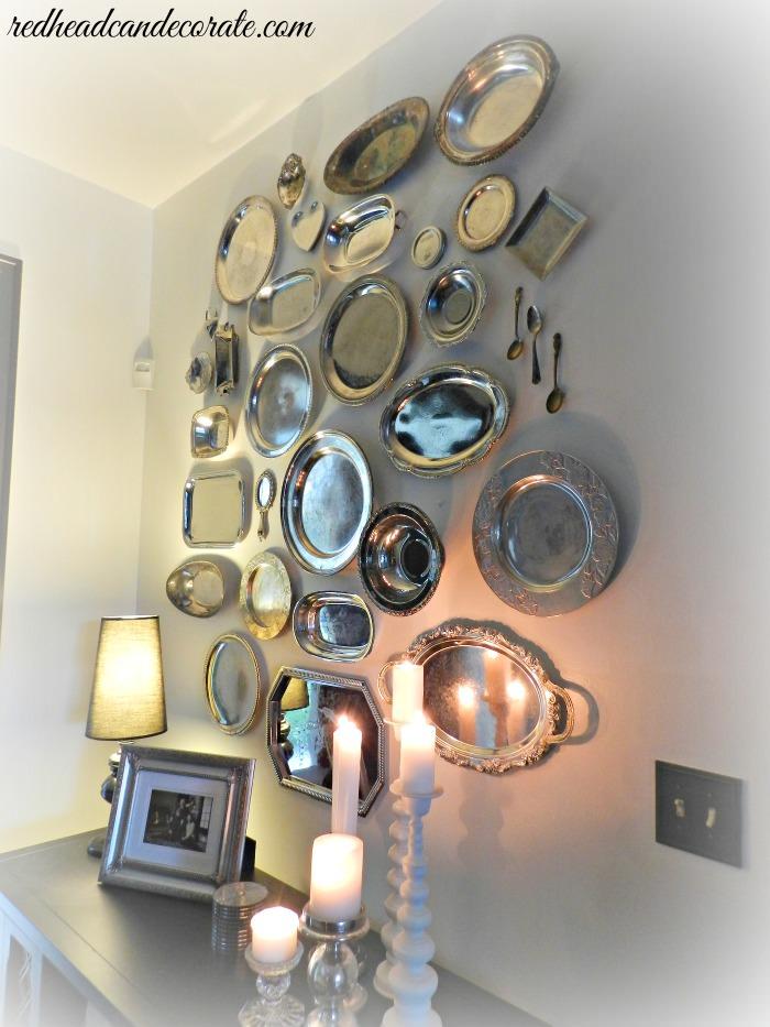 Pretty Silver Platter Wall