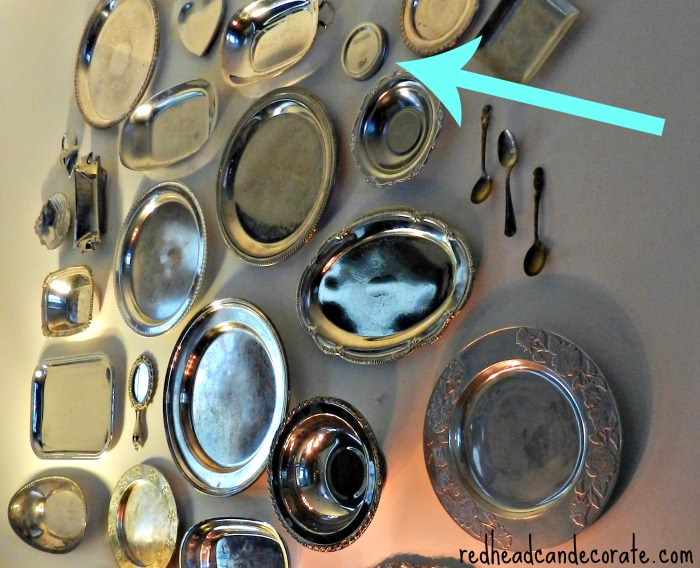 Silver Platters w: Ball Jar LId as a filler